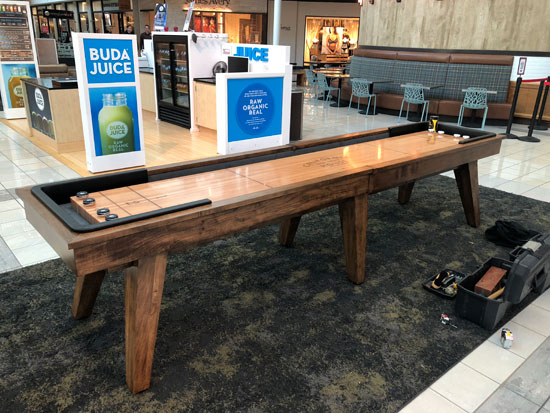 12' Austin Shuffleboard Table installed in Stonebriar Centre