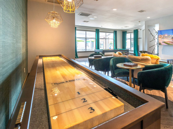 14' Fulton Shuffleboard Table installed in South Jordan, Utah