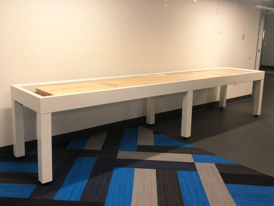 14' Metro Shuffleboard Table installed in Seattle, Washington