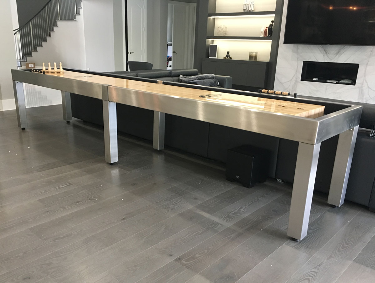 Customer Photo (14' Stainless Steel Shuffleboard)