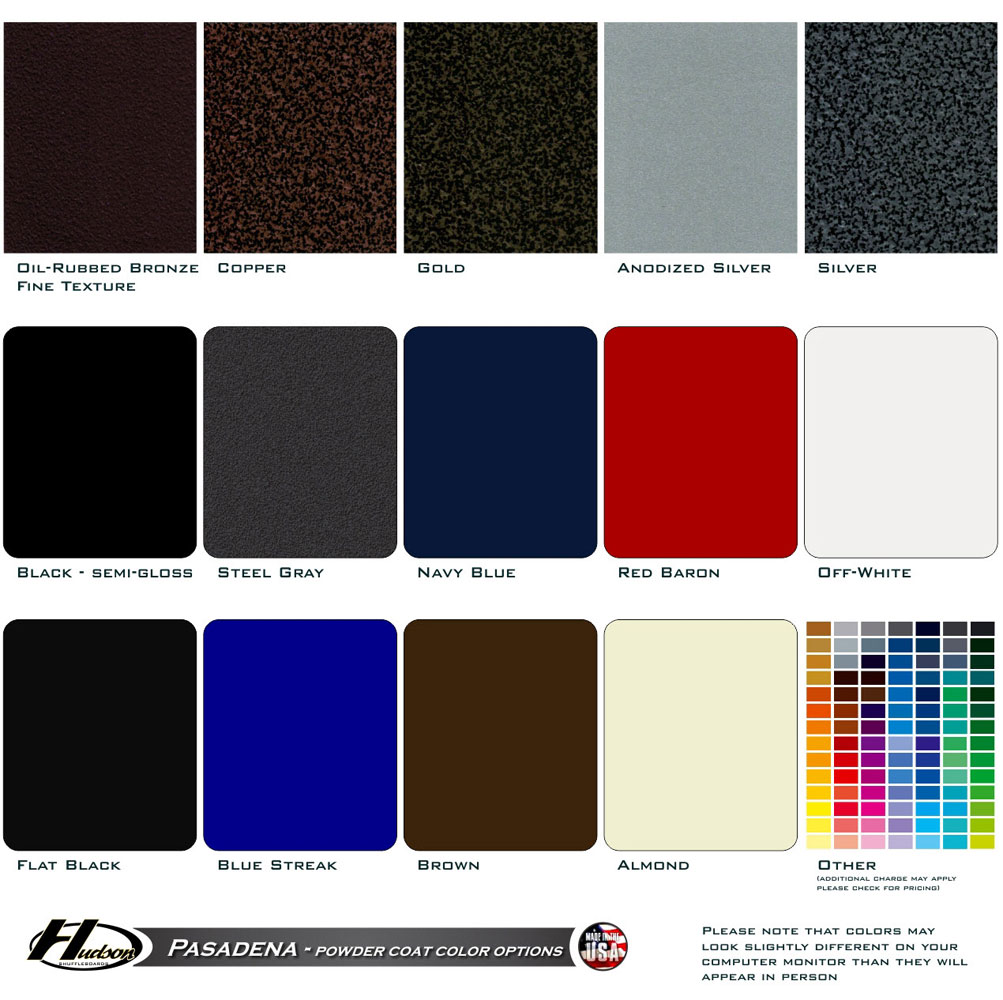 Powder Coat Color Options